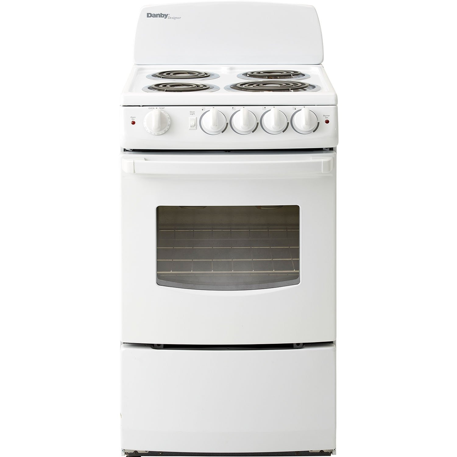 Danby DER201W 20 Inch Electric Range with Coil Element Cooktop 2 4 Cubic Feet White