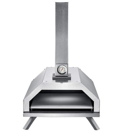 GYBER Pyre-Go Portable Outdoor Pizza Oven Charcoal, Pellets, Wood Fired Pizza Maker 10  | Stainless-Steel | Thermometer
