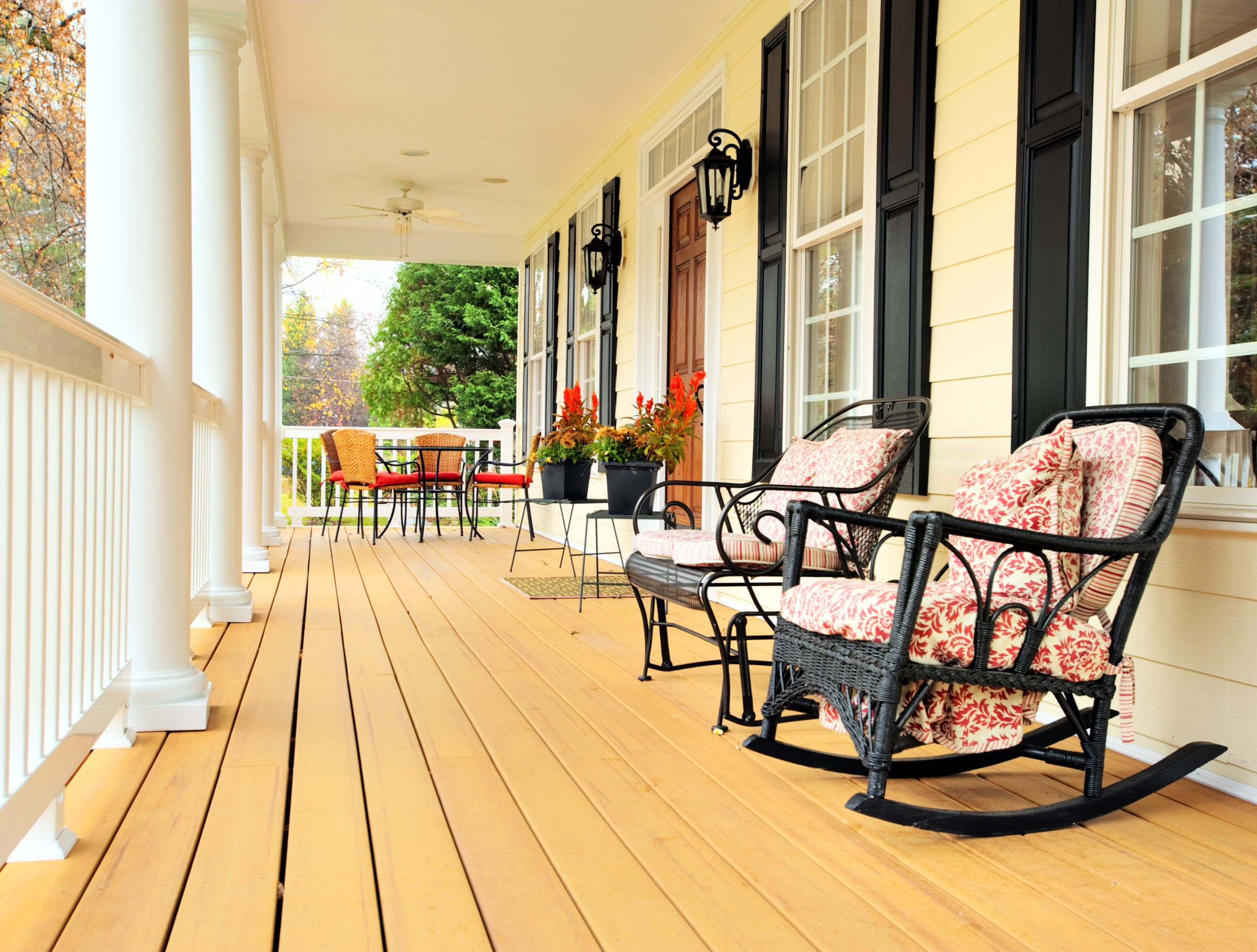 Front Porch of Traditional Home